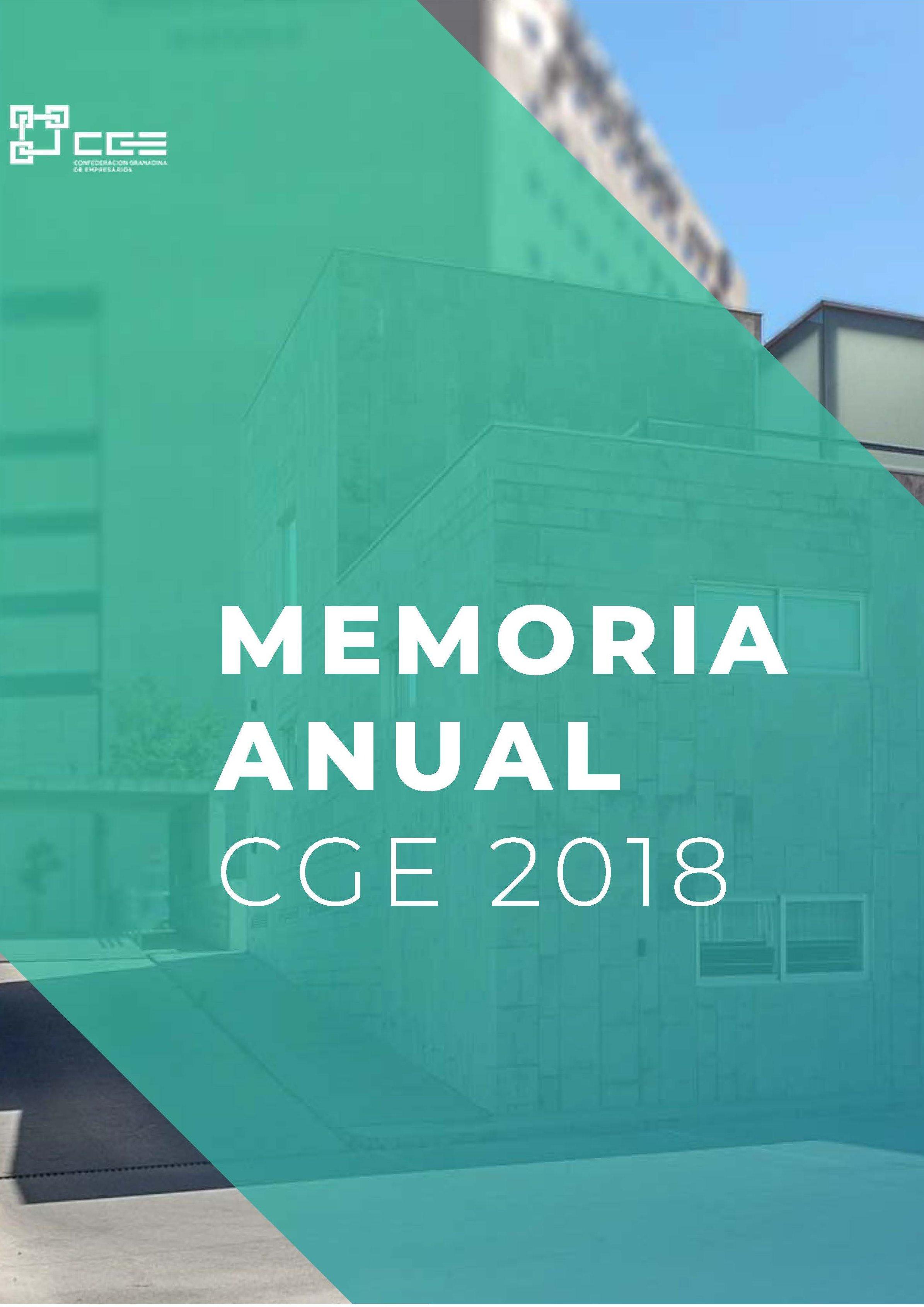 Memoria de actividades CGE 2018